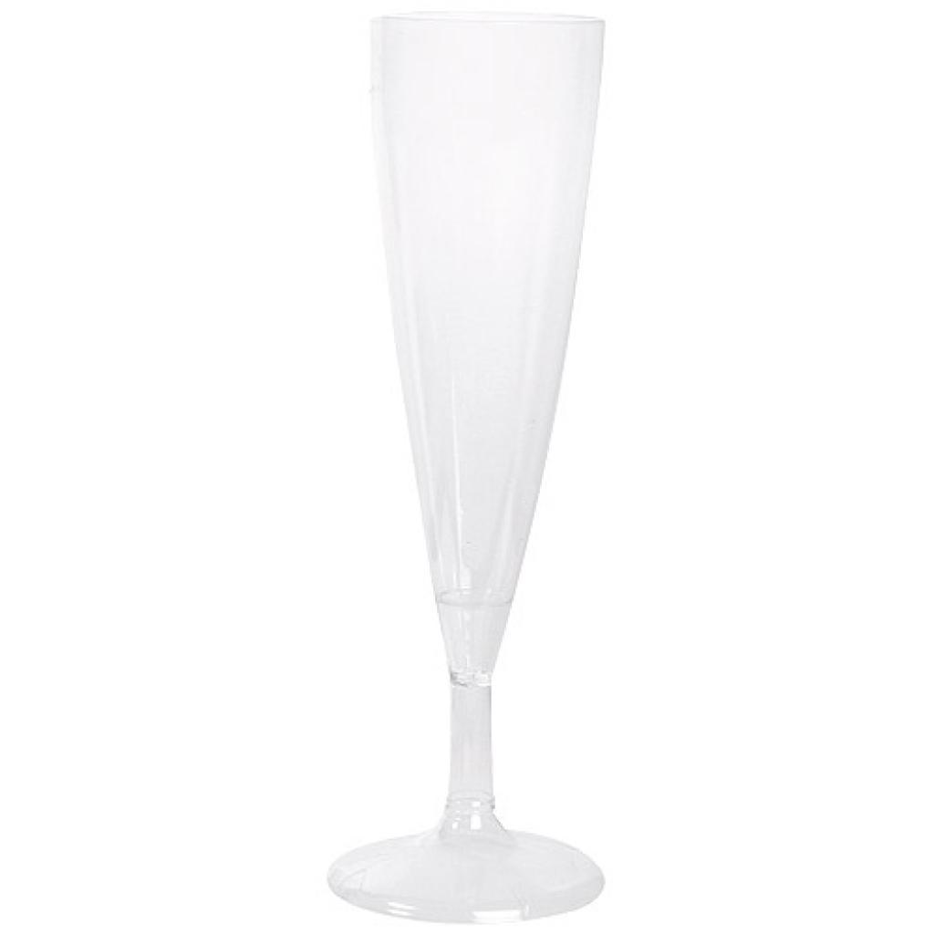 Flute à champagne en plastique PS 10/12 cl