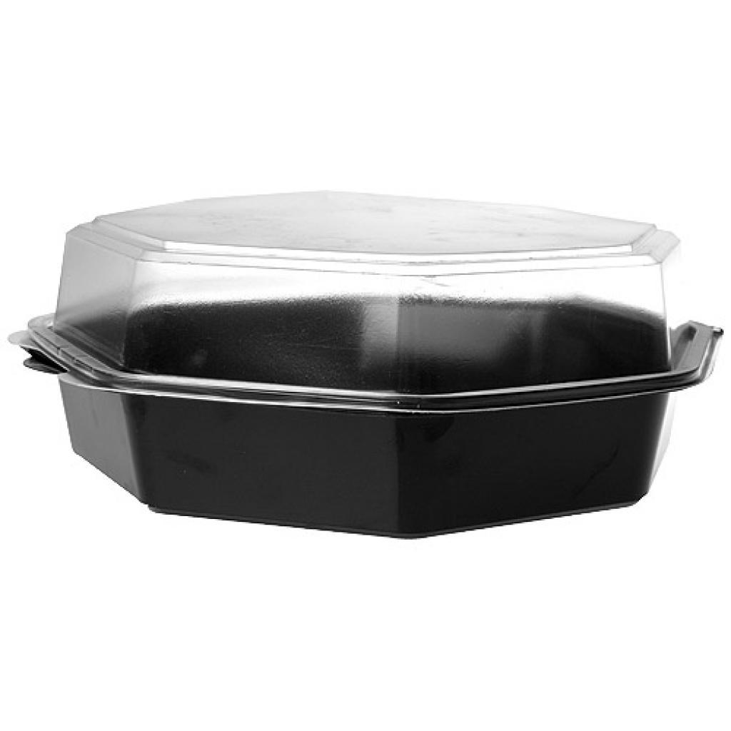 Black PVC Octaview salad bowl, Ø 23 cm