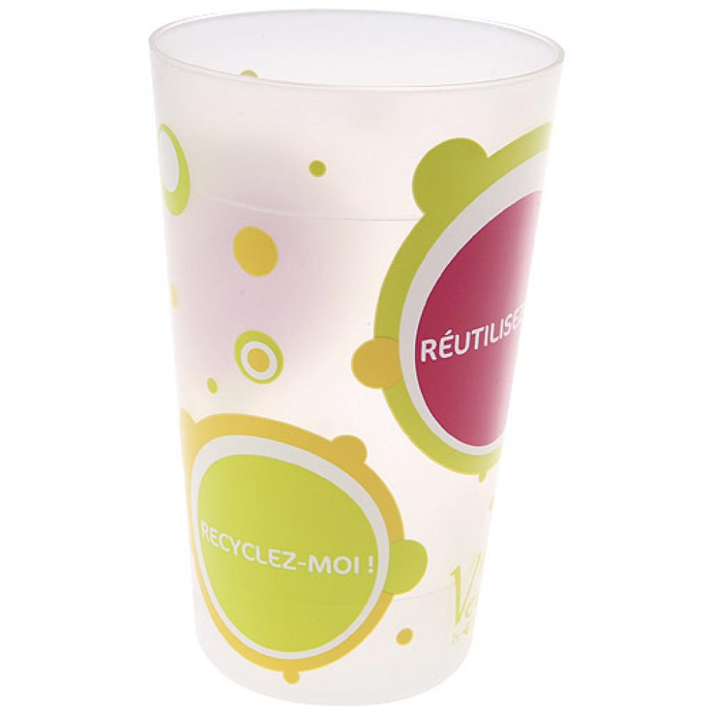 25/30cl reusable PP cup with PPT print 2