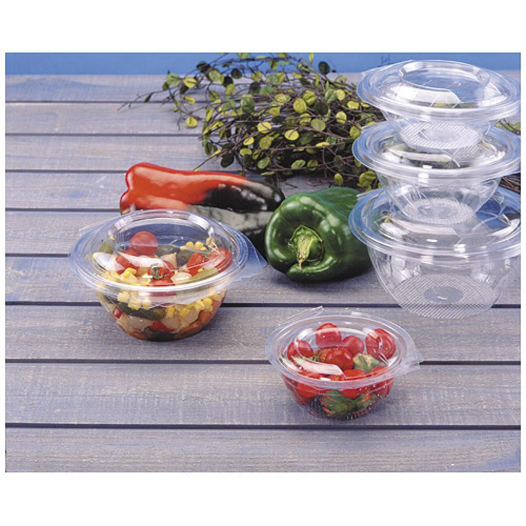 37.5cl round PET plastic Eole salad bowl 2