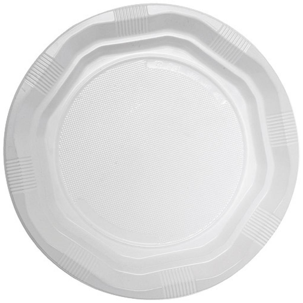 White, PS plastic plates Ø 22 cm