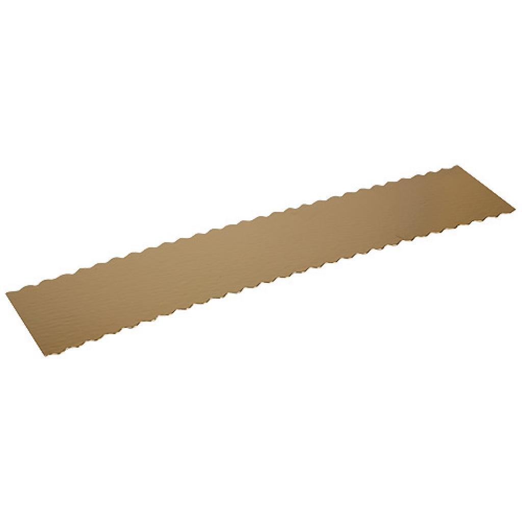Semelle à gateau en carton or/noir 50x10 cm