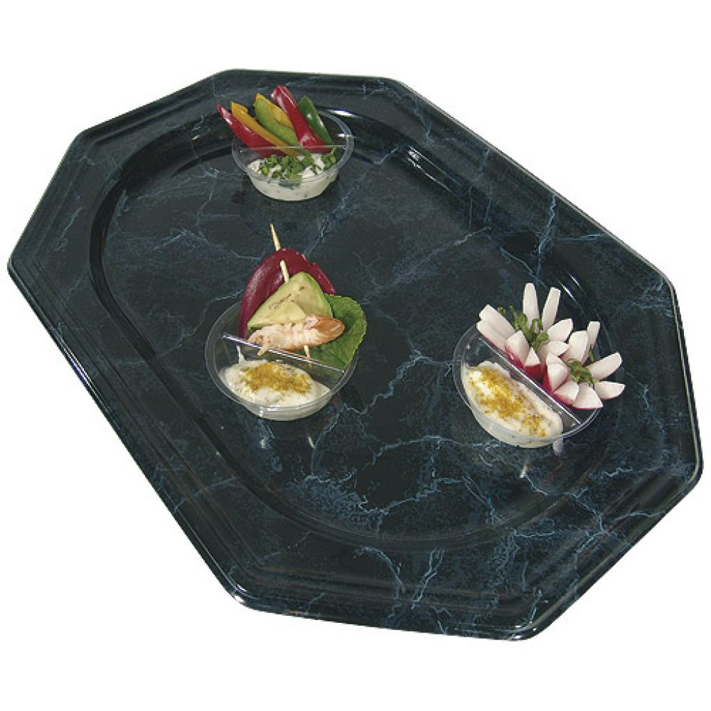 385x255mm marbled black PS display tray