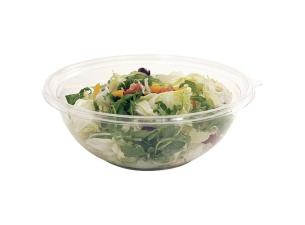 450cl transparent crystal PET salad bowl