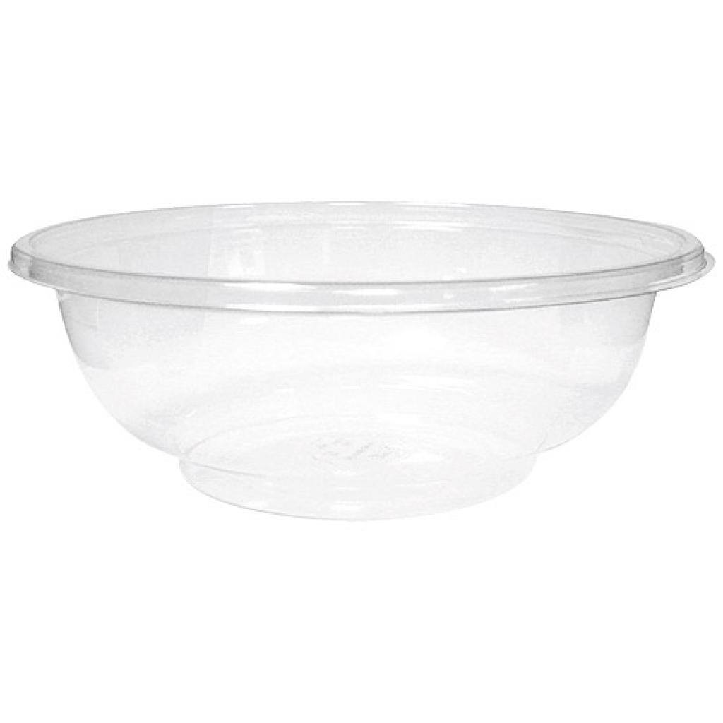 100cl transparent crystal PET salad bowl