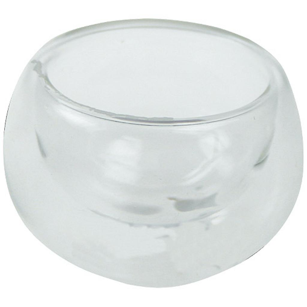 1,7cl double-bottomed glass Sphère glass
