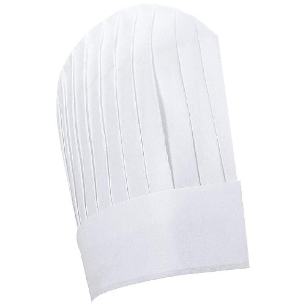 White, continental chef paper chef's hat, height 235 mm ***