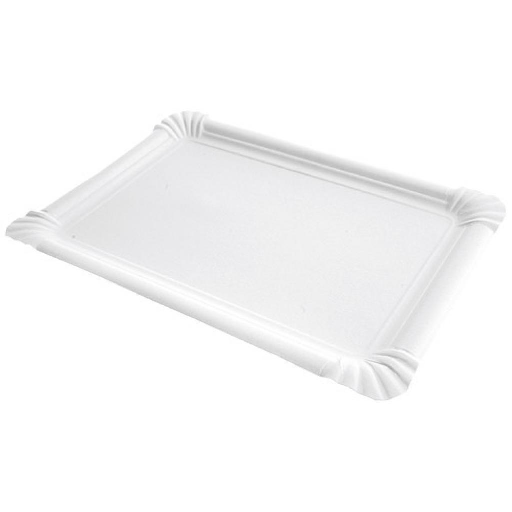 Assiette en carton rectangle 21x30 cm