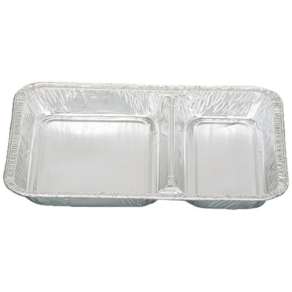 Barquette aluminium 2 compartiments h 30 mm