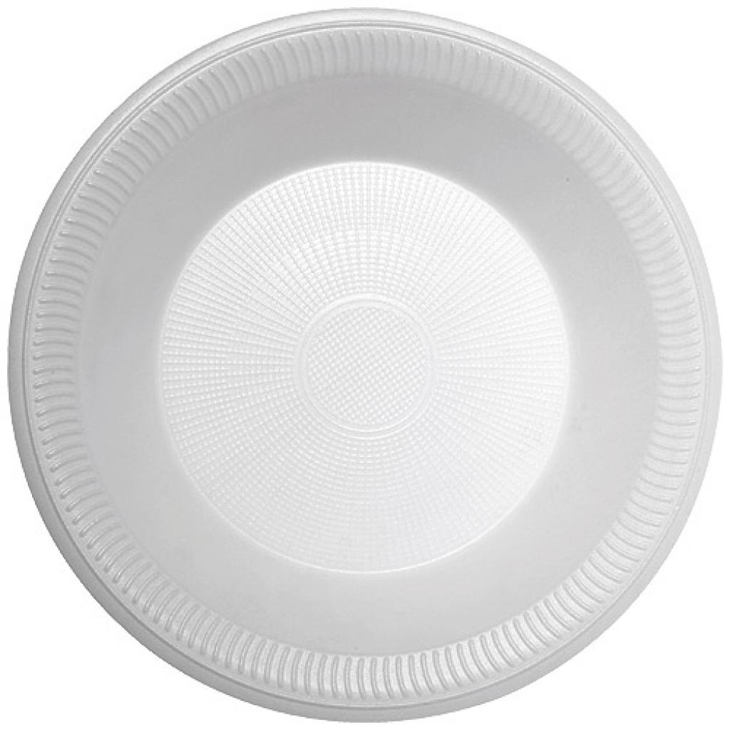 Bol à salade plastique PSE blanc Ø 22cm 75cl