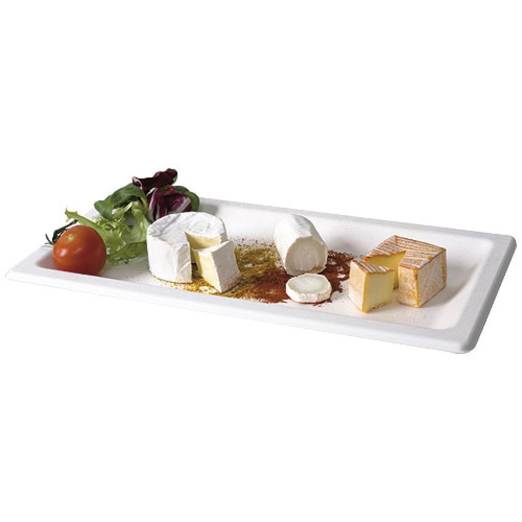 Assiette Pulpy Liny blanche 13x26 cm 2