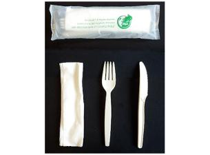 3 in 1 biodegradable luxury cutlery sleeve