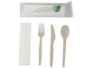 Sachet couverts Luxe 4 en 1 biodegradable