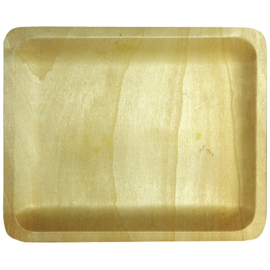 Rectangular wooden plate 265x215x20 mm