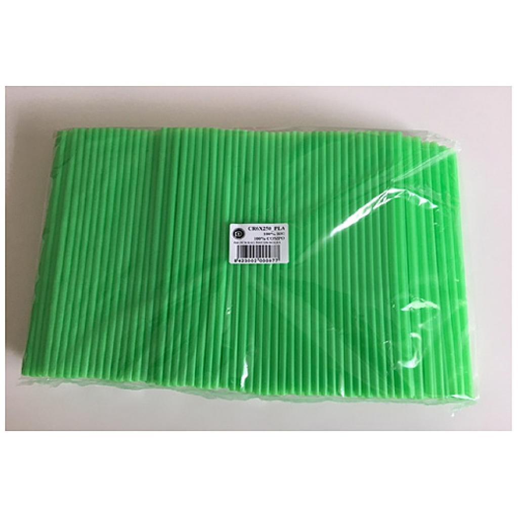 Rigid green PLA straws Ø 6 mm, 230 mm
