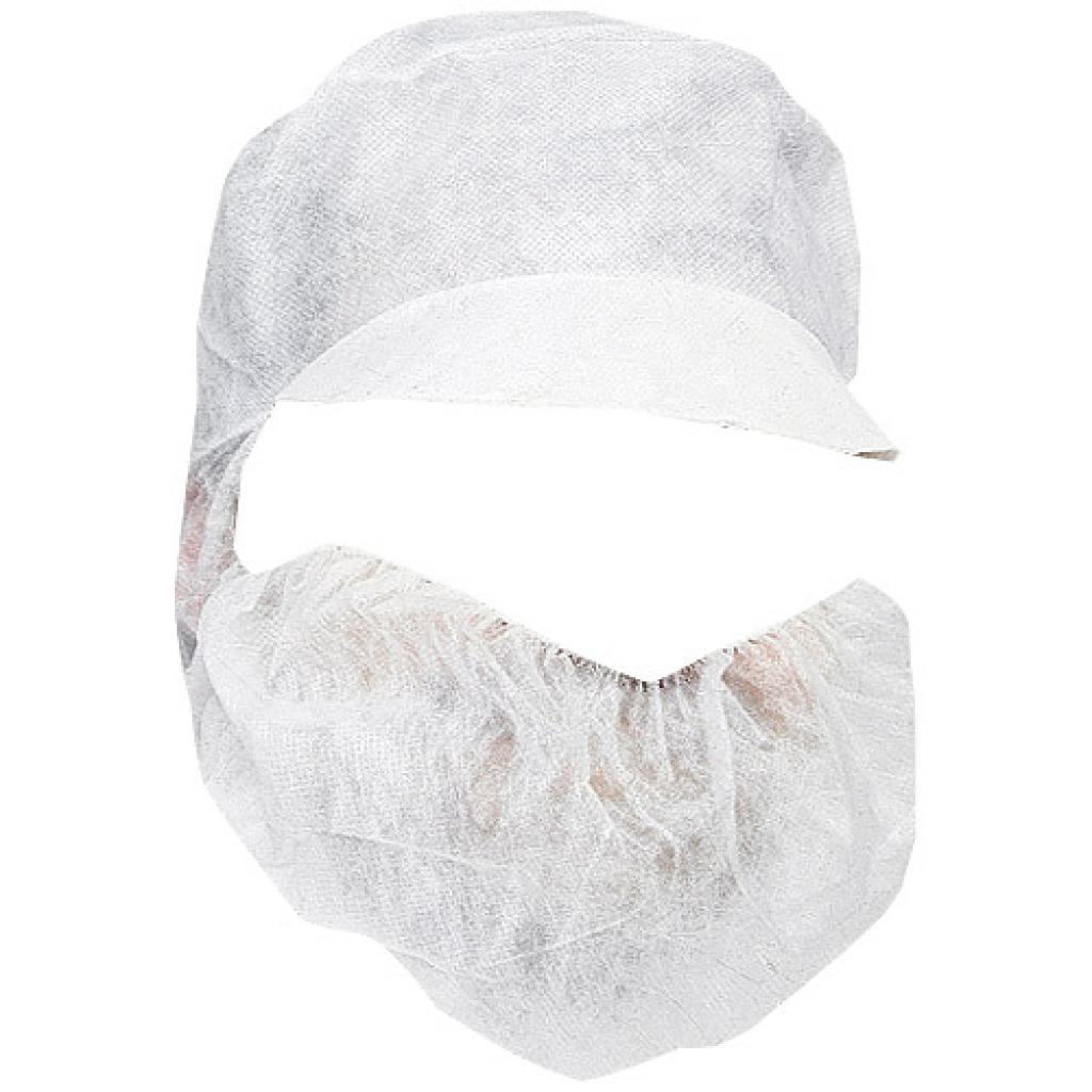 Fishnet cap with a paper visor