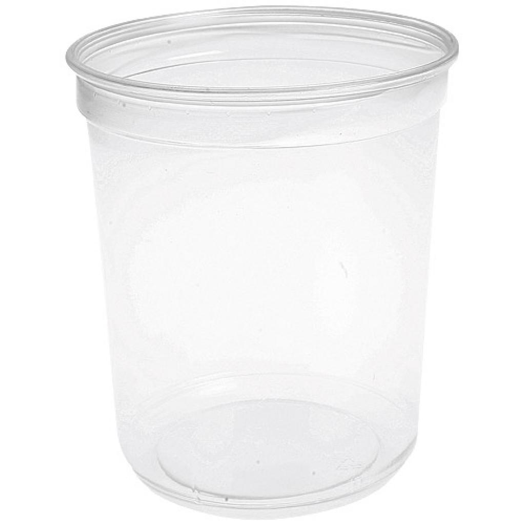 90cl (32oz) circular PET plastic salad bowl