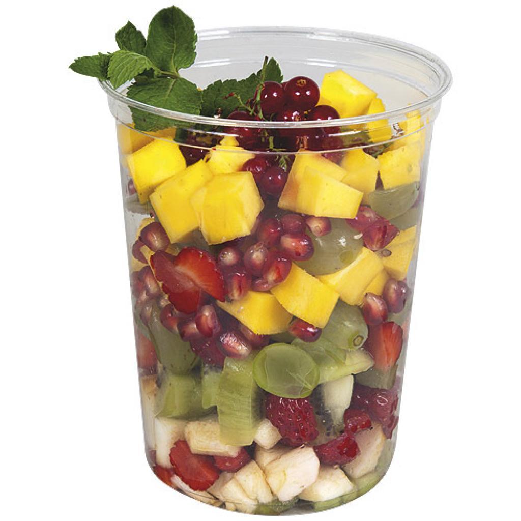 90cl (32oz) circular PET plastic salad bowl 2