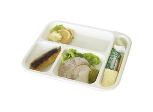 White PP 4-compartment GN tray