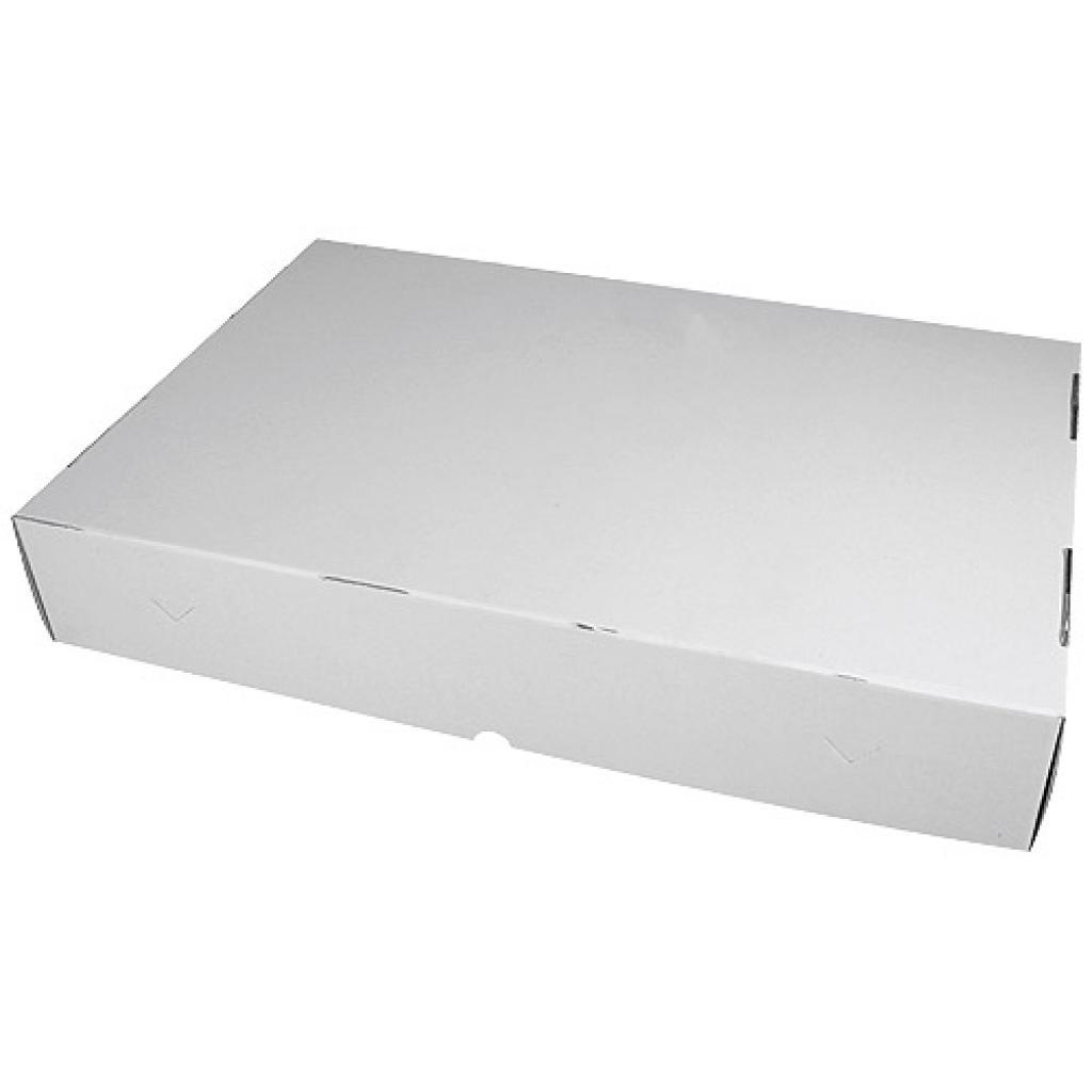 White cardboard caterer's box, 60x40x10 cm