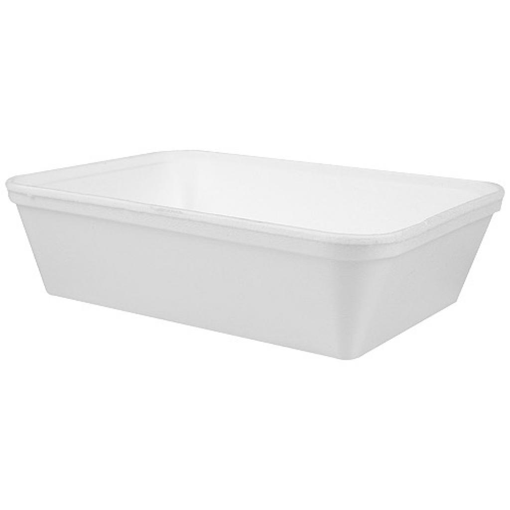 Barquette PSE isotherme blanc 735ml 180x140x50