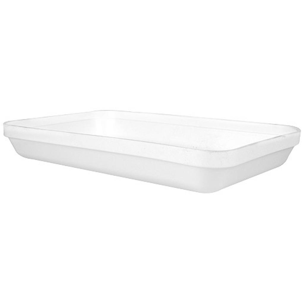 White, insulated PSE lid for FD34 ravier