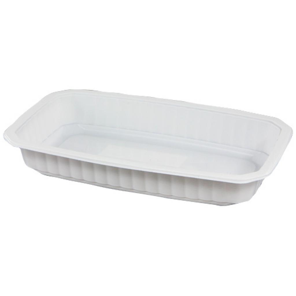 Barquette plastique GN 1/4 blanche h 40 mm