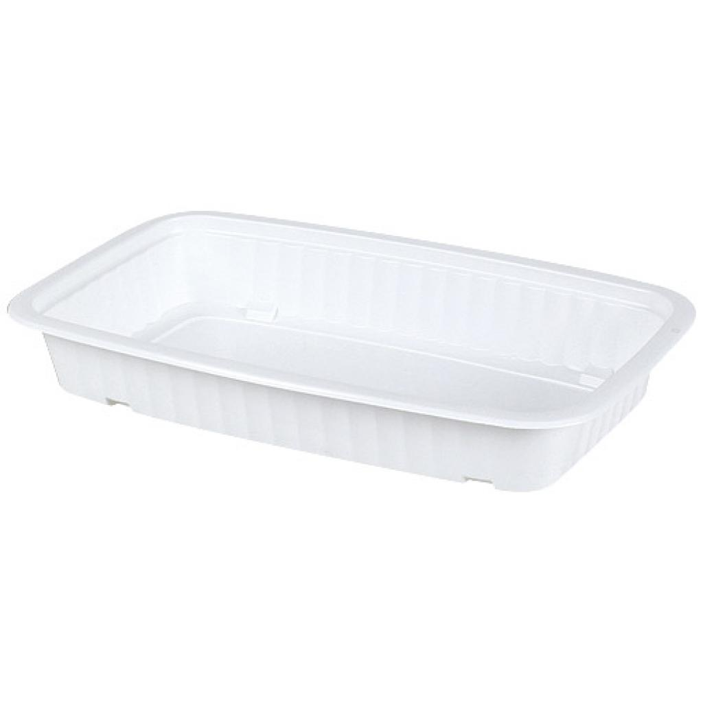 White 1/4 GN thermoformed PP container, 45mm depth