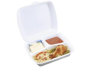 White 3-compartment Snacky box