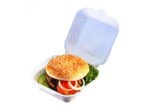 White PSE hamburger box 120x120x74 mm