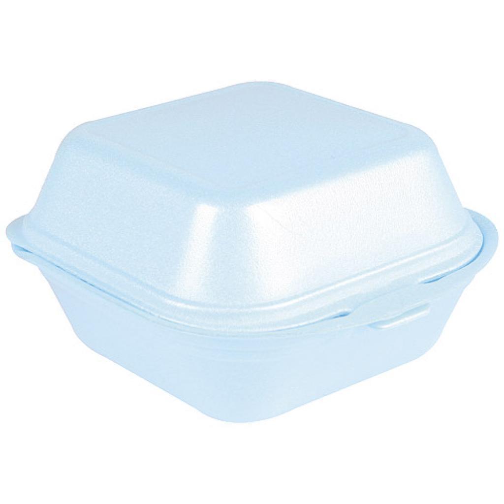 Boîte hamburger en PSE bleue 120x120x74 mm