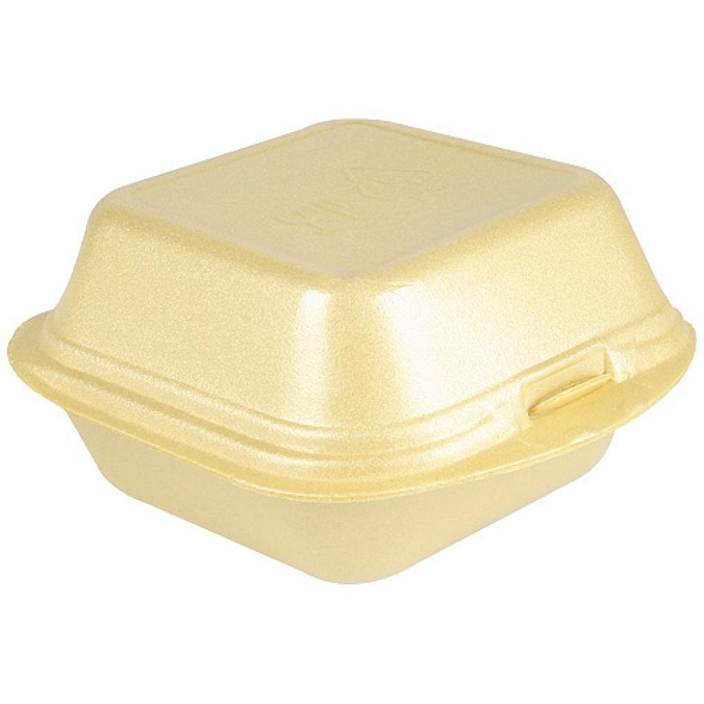 Gold-coloured PSE hamburger box 120x120x74 mm 2