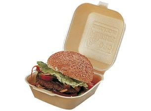Gold-coloured PSE hamburger box 120x120x74 mm