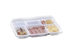 White PS 6-compartment tray 371x271x34 mm