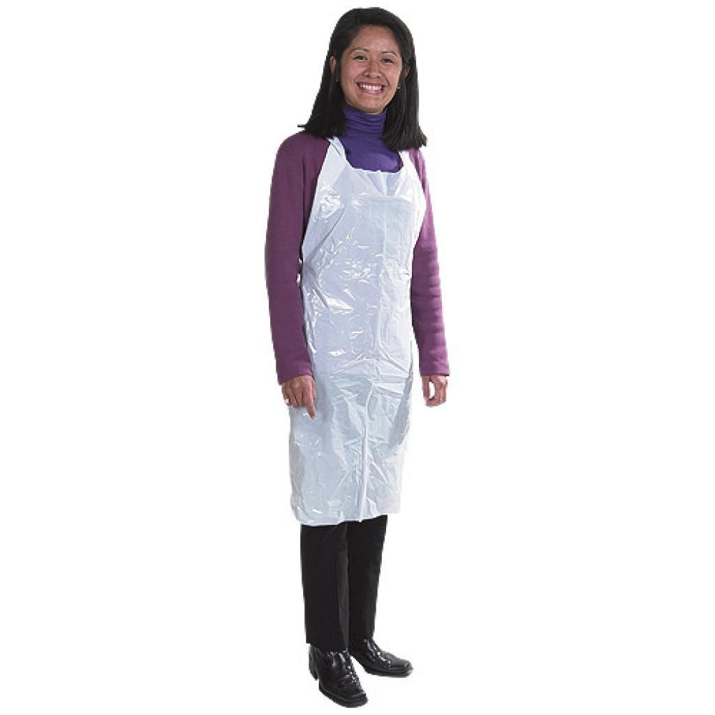 Opaque PE plastic apron 122x72 cm***