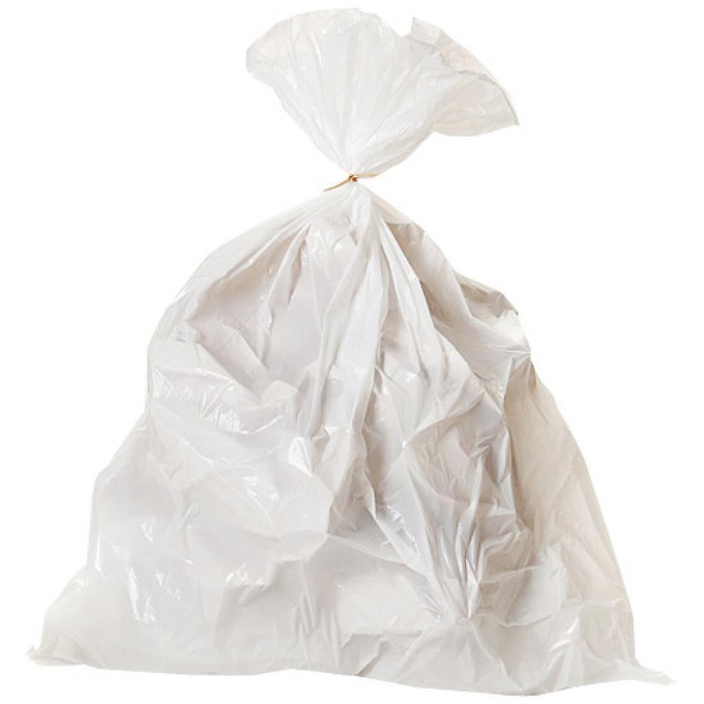Sac poubelle en PE blanc 50 litres 30 µ ***