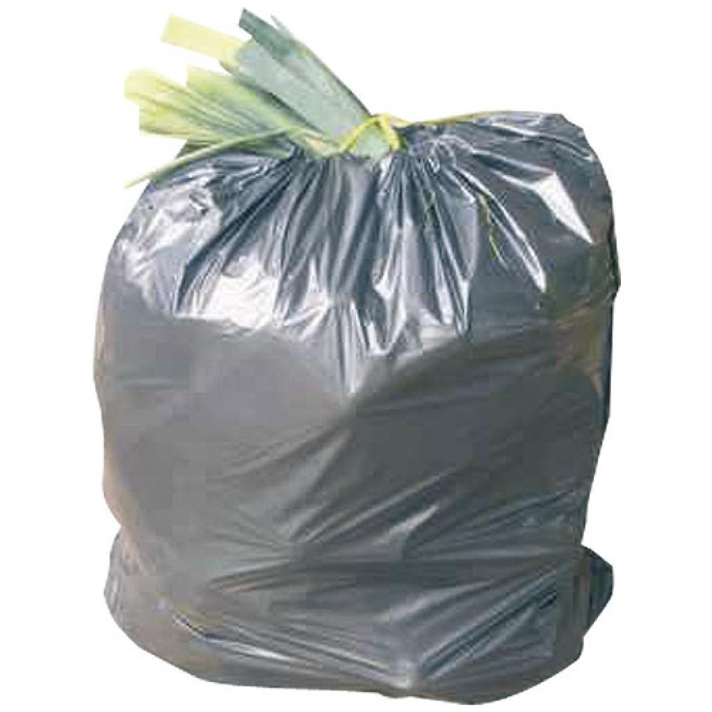 Sac poubelle en PE gris 130 litres