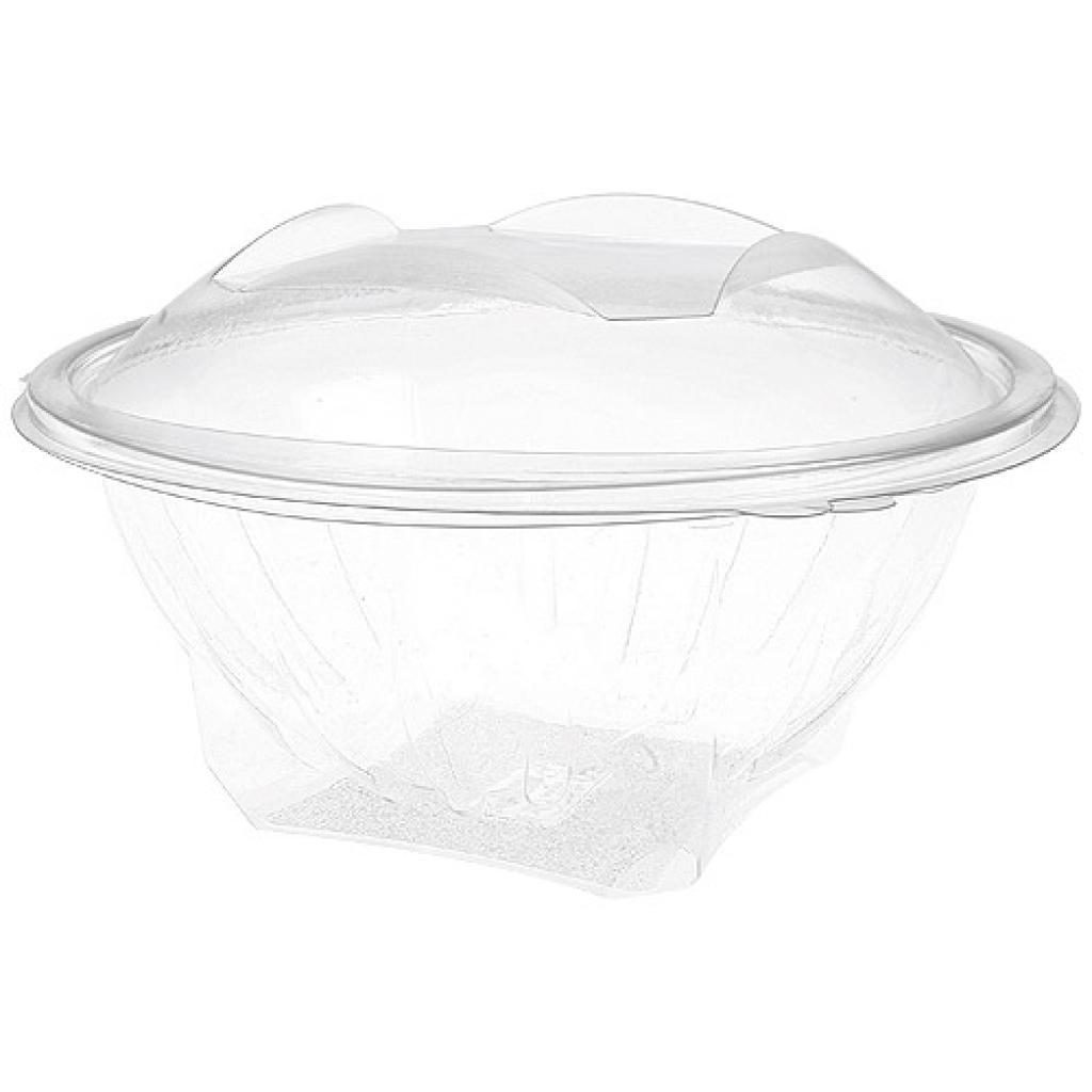 1000cc round PET plastic Eole salad bowl