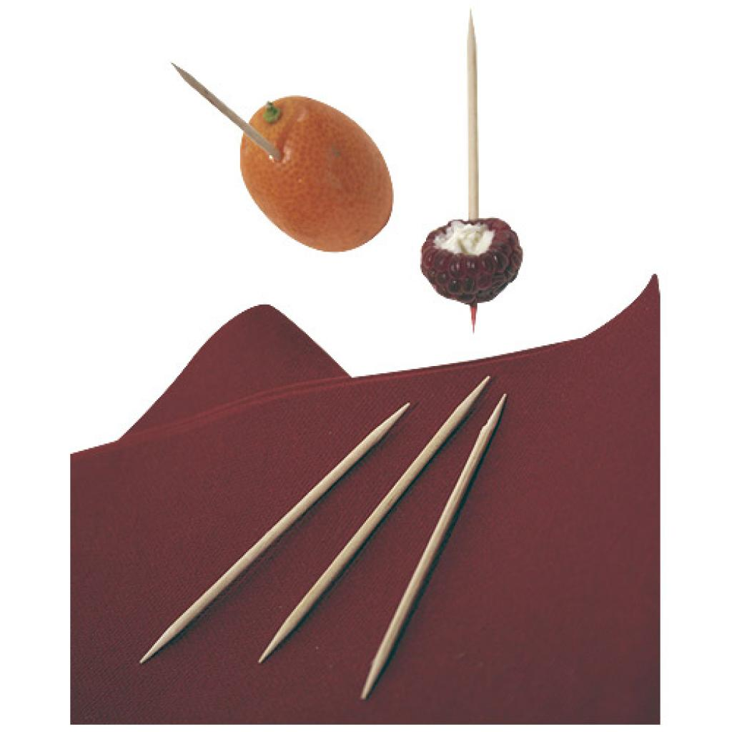 68mm double-pointed wooden skewer