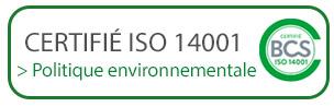 certificats ISO 14001 - Firplast